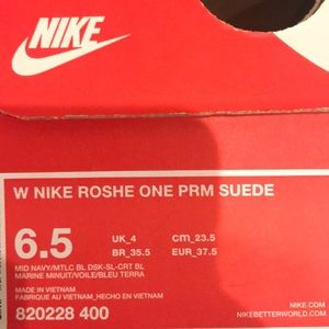 6e0935ded6ce6 Nike Shoes - women s nike roshe one prm suede